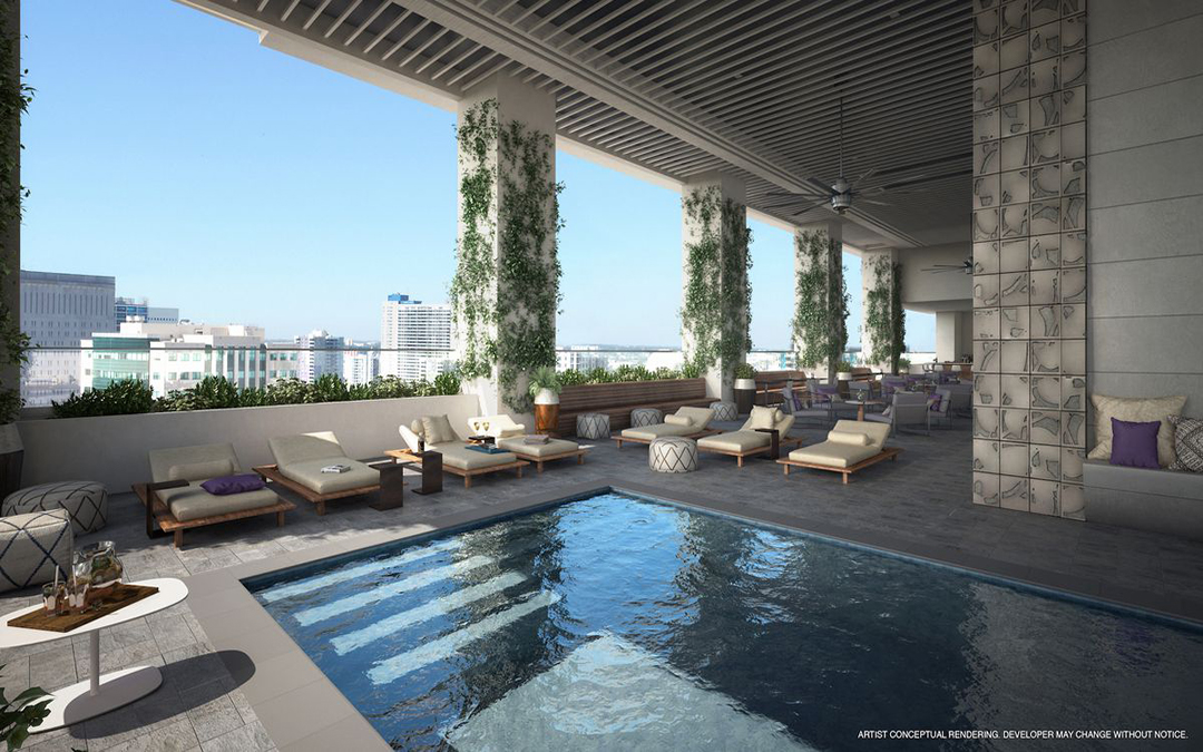 New renderings preview downtown Miami's YotelPad hotel and condo development
