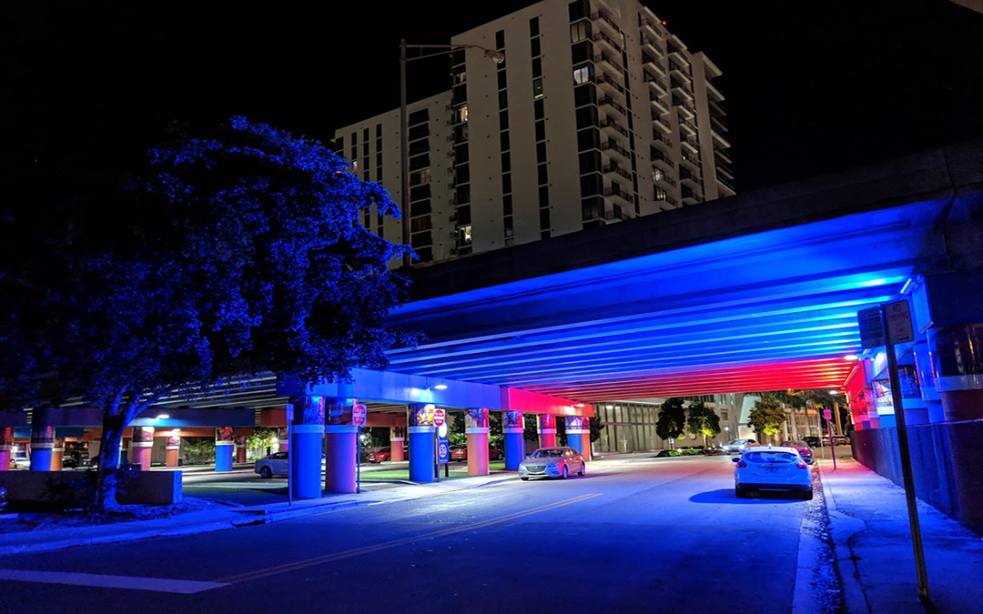 Area Under Bridges Between Midtown & Design District Get New Lighting & Artwork