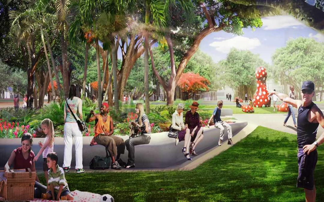 Miami Beach's New 5.8-Acre Park Set To Begin Construction Next To Convention Center
