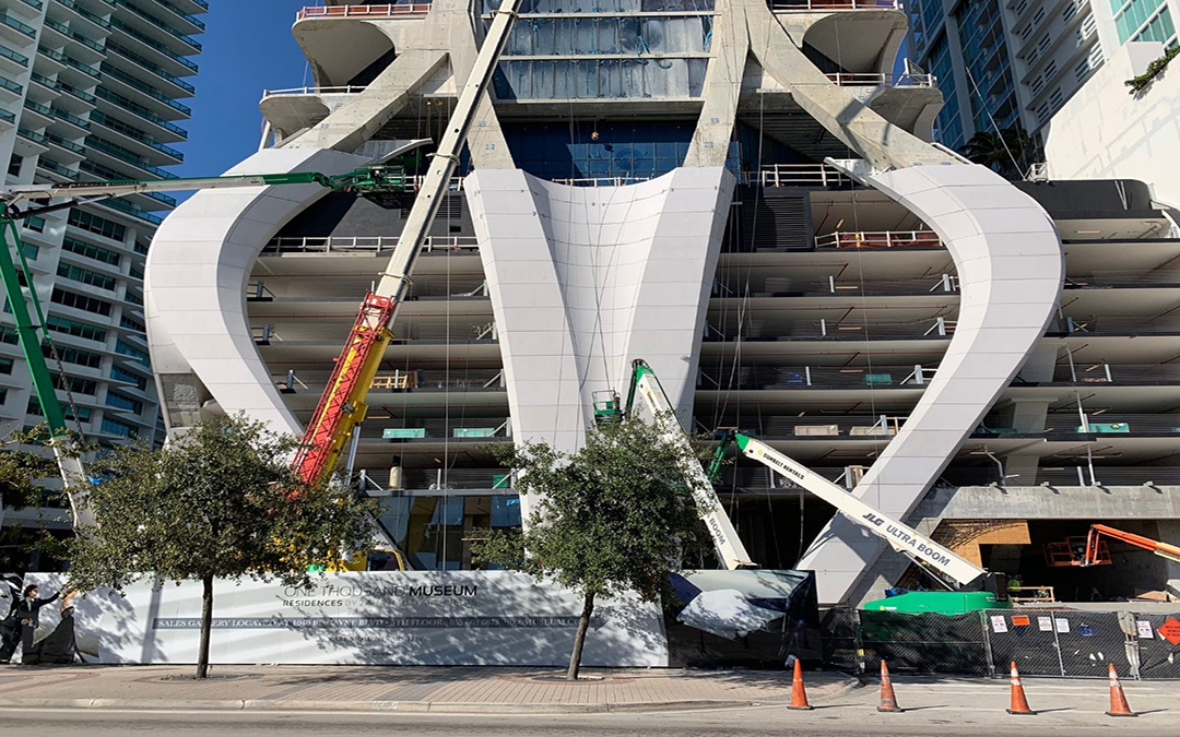 Zaha Hadid's One Thousand Museum 'Scorpion Tower' Less Than 90 Days From Opening (Photos)