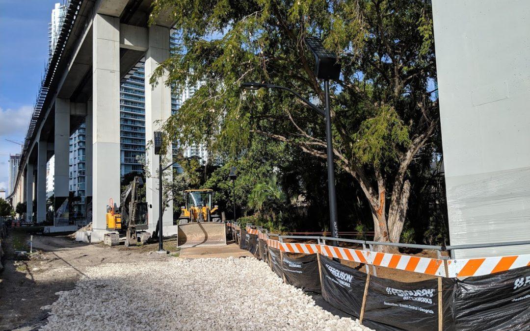 Photos: Construction Gets Underway On The Underline In Brickell