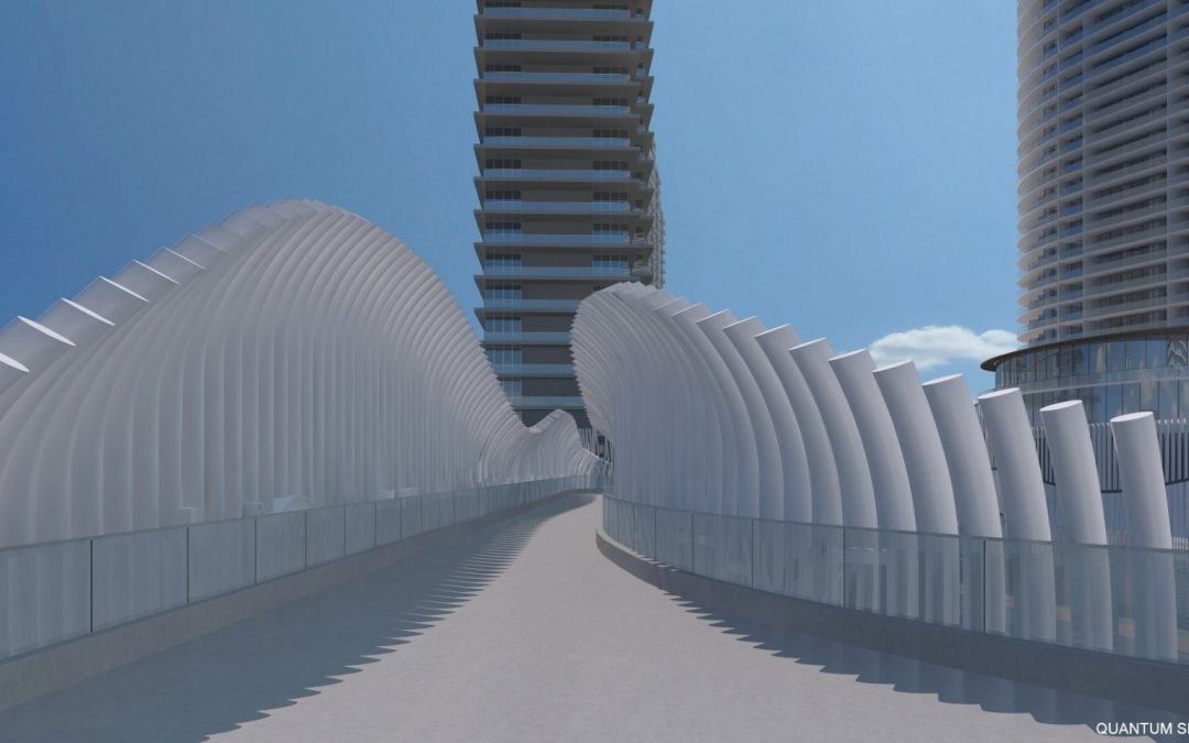 ARQUITECTONICA-DESIGNED PEDESTRIAN BRIDGE PROPOSED AT ENTRANCE TO SOUTH BEACH