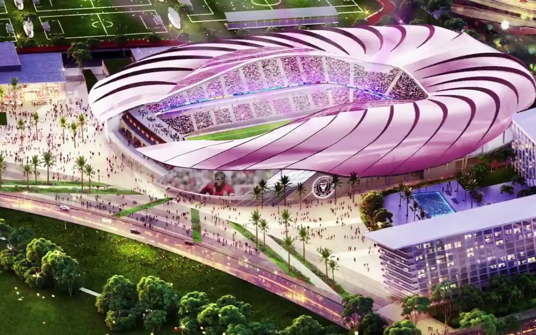 NEW RENDERINGS OF BECKHAM'S INTER MIAMI STADIUM, AFTER SOFTBANK ANNOUNCES OFFICE FOR $5B FUND HERE