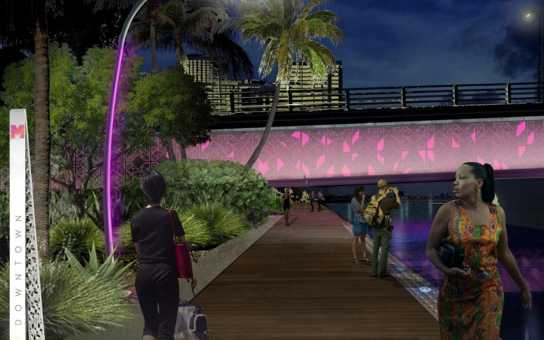 DOWNTOWN MIAMI GETTING A LIGHTED BAYWALK AS A SUPER BOWL LEGACY PROJECT