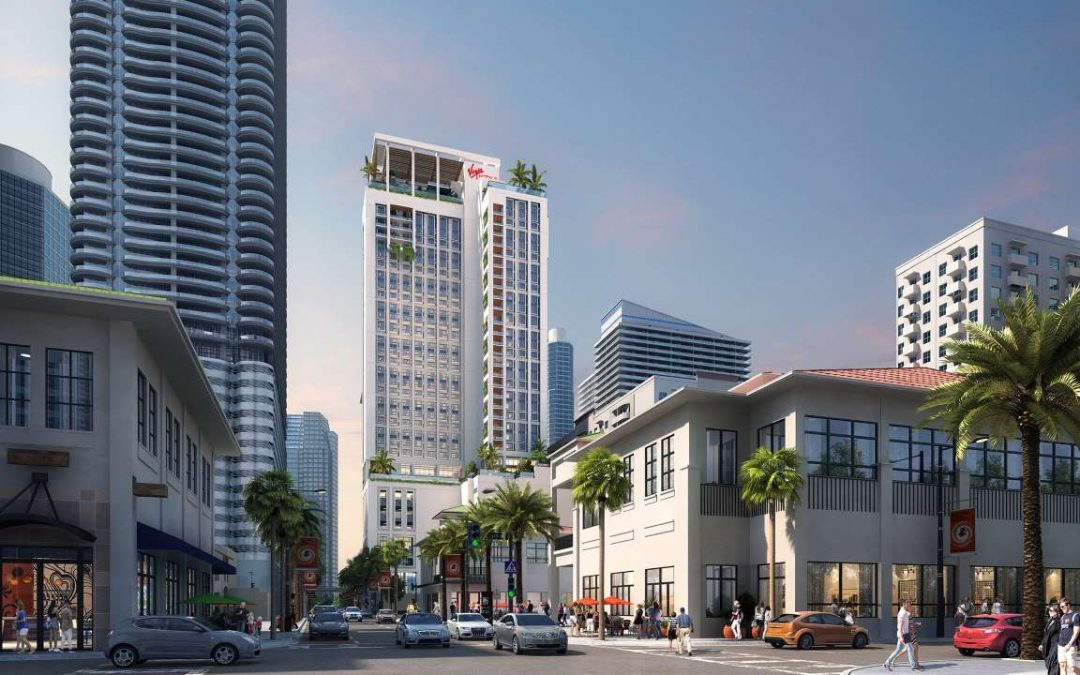 VIRGIN HOTELS TO BEGIN CONSTRUCTION ON 40-STORY BRICKELL TOWER IN 2020 WITH CO-LIVING & 'CROWN JEWEL' ROOFTOP LOUNGE