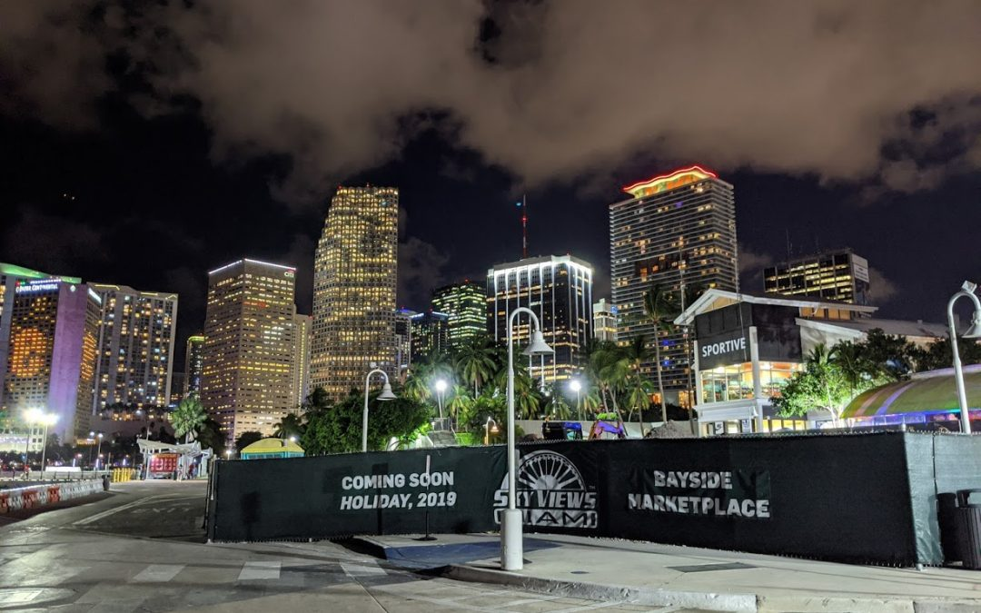 PHOTOS: SKYVIEWS MIAMI CONSTRUCTION SITE AT BAYSIDE, OPENING FOR HOLIDAYS 2019