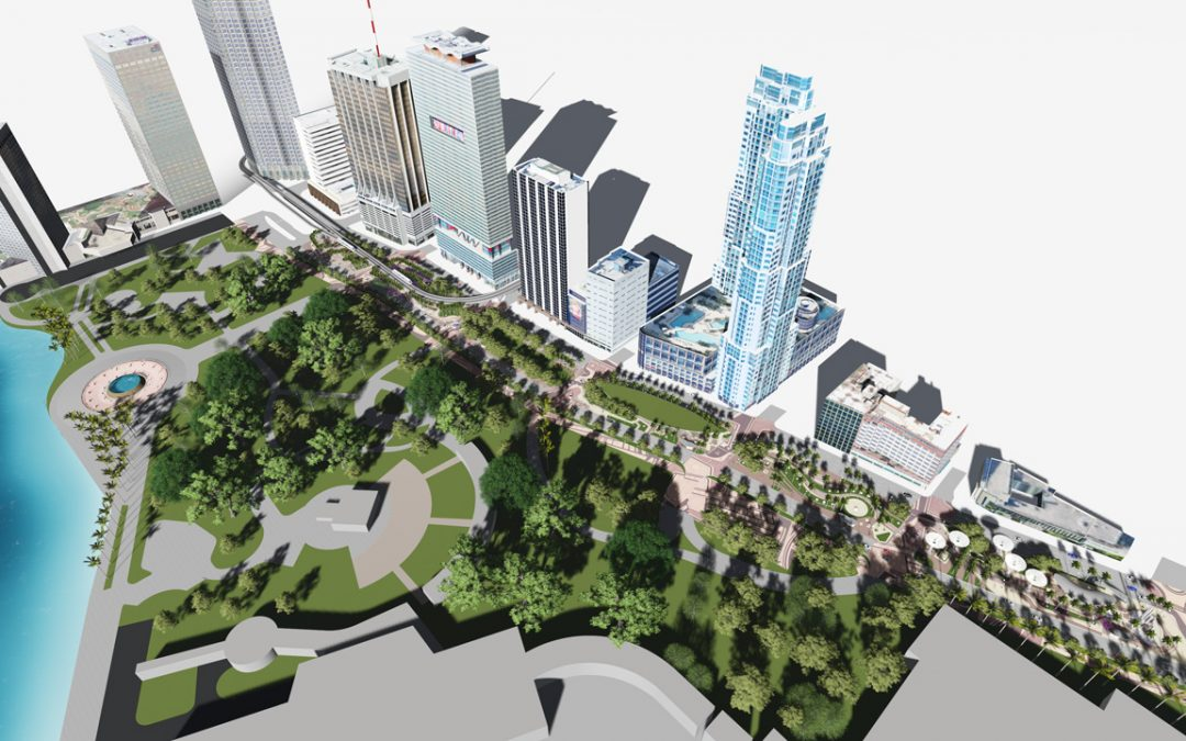 PUBLIC MEETING THIS WEEK ON BISCAYNE GREEN PLAN TO REMOVE DOWNTOWN MIAMI TRAFFIC LANES FOR GREEN SPACE