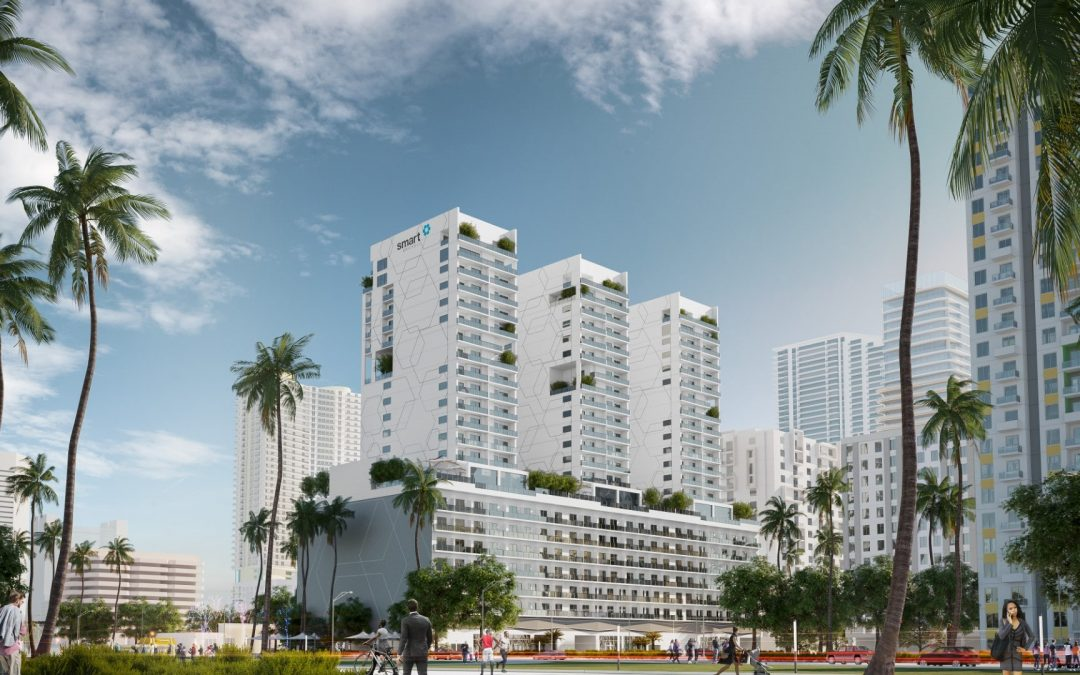CONSTRUCTION IS UNDERWAY AT FIRST OF 3 SMART BRICKELL TOWERS AFTER DEVELOPER SECURES $24 MILLION LOAN