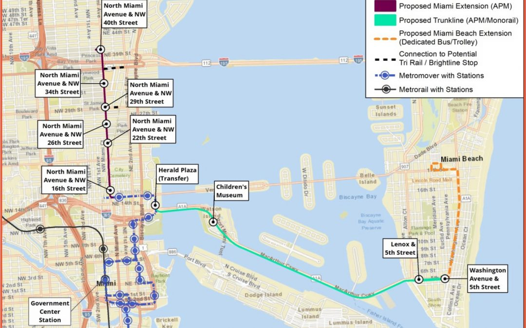 RENDERINGS SHOW ELEVATED PEOPLE MOVER FROM MIDTOWN TO SOUTH BEACH AFTER IT IS SELECTED AS 'PREFERRED ALTERNATIVE'
