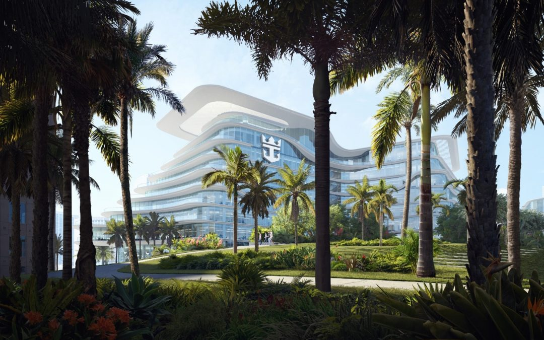 ROYAL CARIBBEAN'S GIANT NEW MIAMI GLOBAL HEADQUARTERS NOW SEVERAL FLOORS OUT OF GROUND